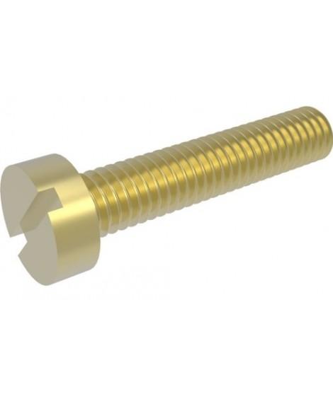 Zylinderschrauben mit Schlitz DIN 84 Messing