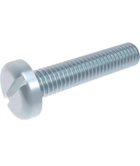 Gewindeschrauben Flachkopf M5 x 16 Stahl verzinkt 4.8 DIN 85 Schlitz 500 Stk